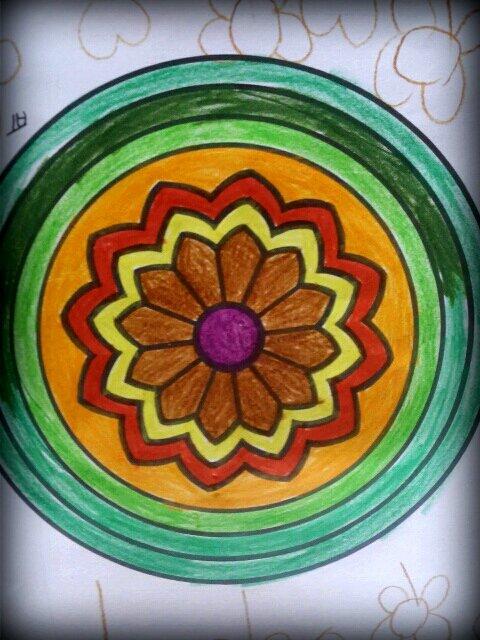 Mandala. Coloriage de Mila