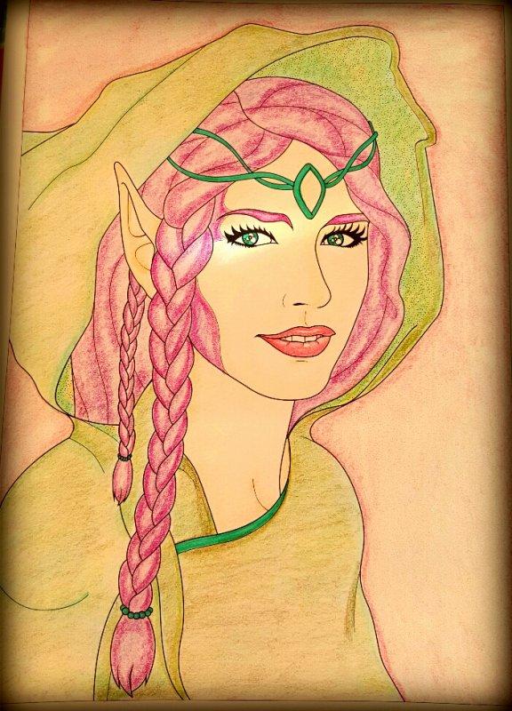Art thérapie : au royaume des elfes.