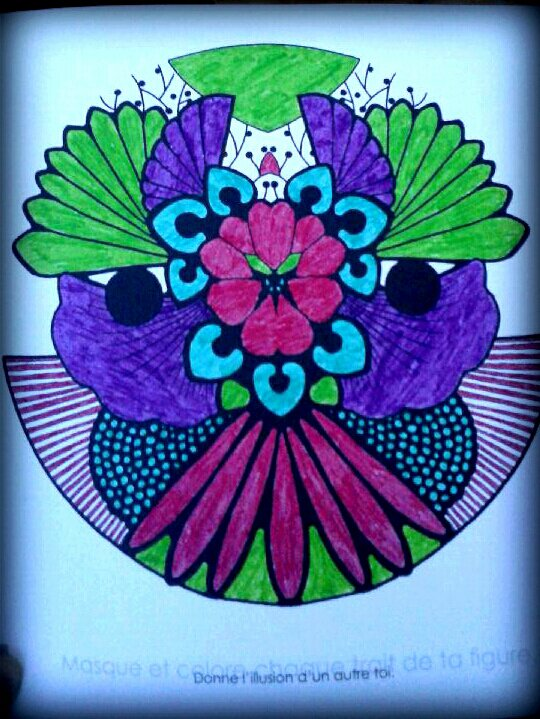 Art thérapie : mandalas zentangle. Coloriage Lucyle