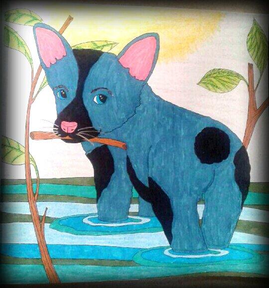 Art thérapie : puppies. Coloriage de Lucyle