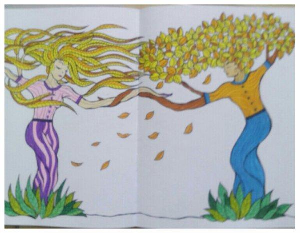 Art thérapie : arbres de vie. Coloriage Nini