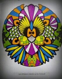 Art thérapie : mandalas zentangles. Coloriage Nini
