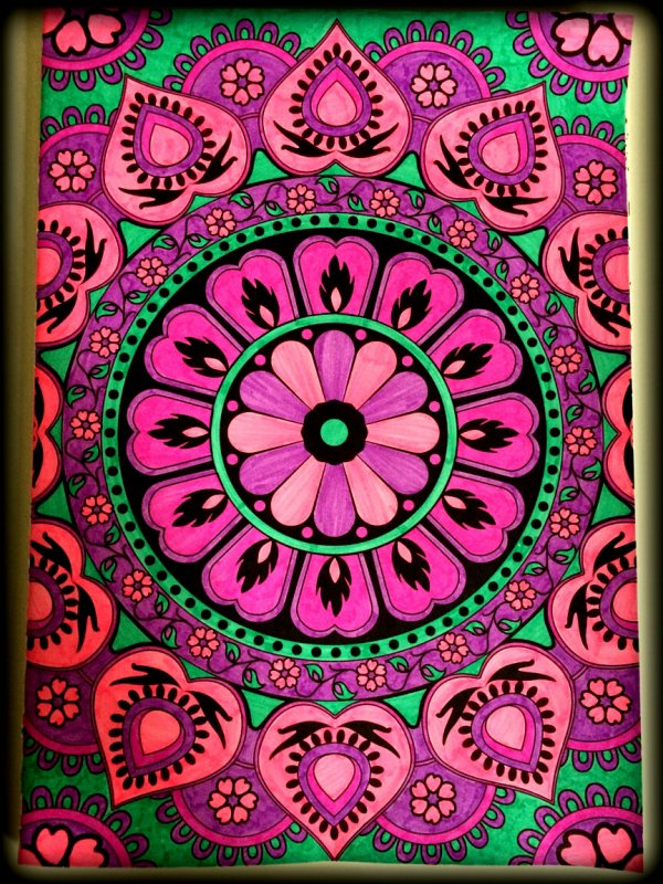Art thérapie : coloriage Lauryne.