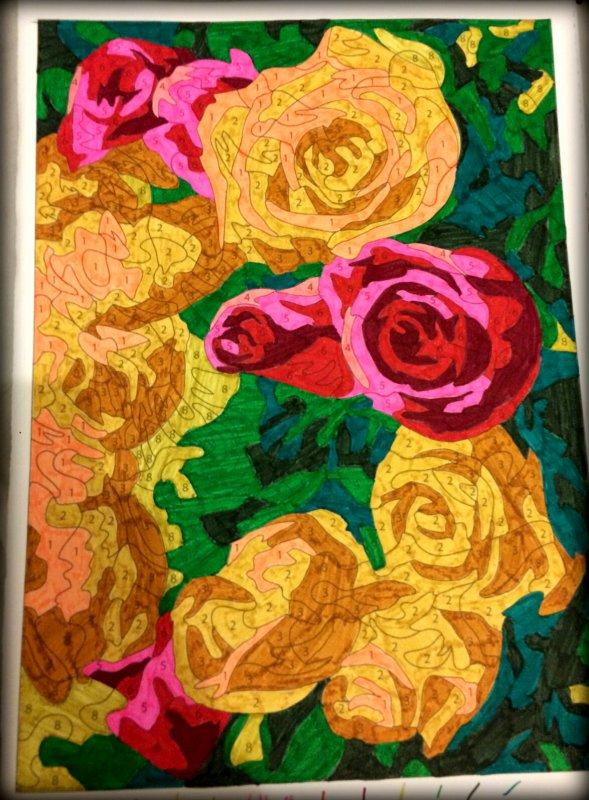 Art thérapie : coloriage mystère Lauryne.