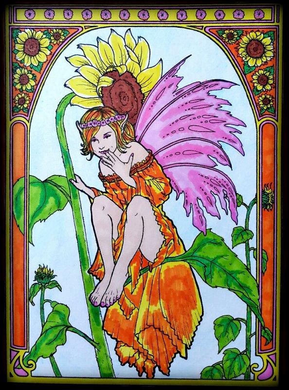 Art thérapie : floral fairies.