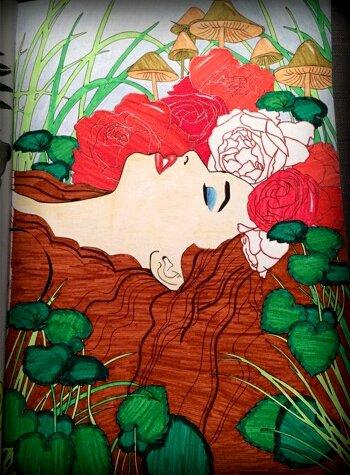 Art thérapie : fleurs 100 coloriages.  Coloriage Lauryne