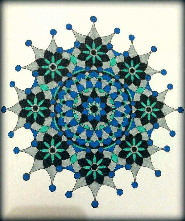 Art thérapie : Mandala. Coloriage de Lauryne