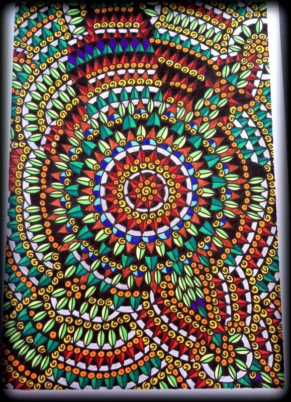 Art th rapie r ves 100 coloriages pour s 39 endormir coloriage de lauryne coloriages - Coloriage panda des reves ...