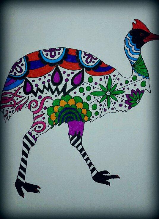 Art thérapie : animaux à colorier. Coloriage Papa
