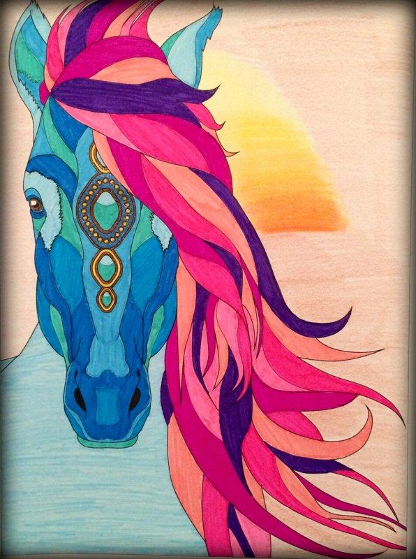 Art thérapie : au royaume des elfes. Coloriage de Lauryne