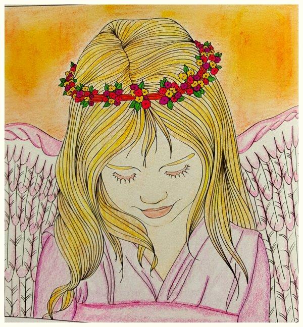 Art Thérapie Anges Et Démons Coloriages Thérapeutiques