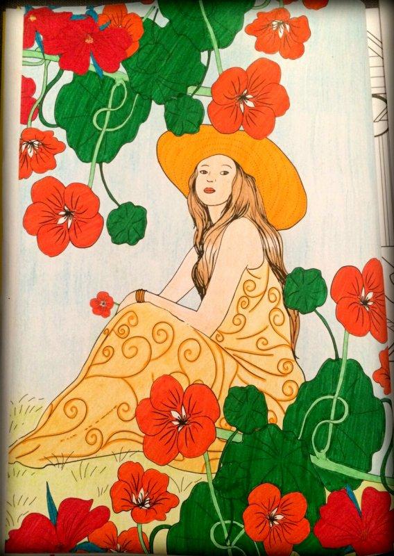 Art thérapie : été 100 coloriages anti stress.  Coloriage Lauryne