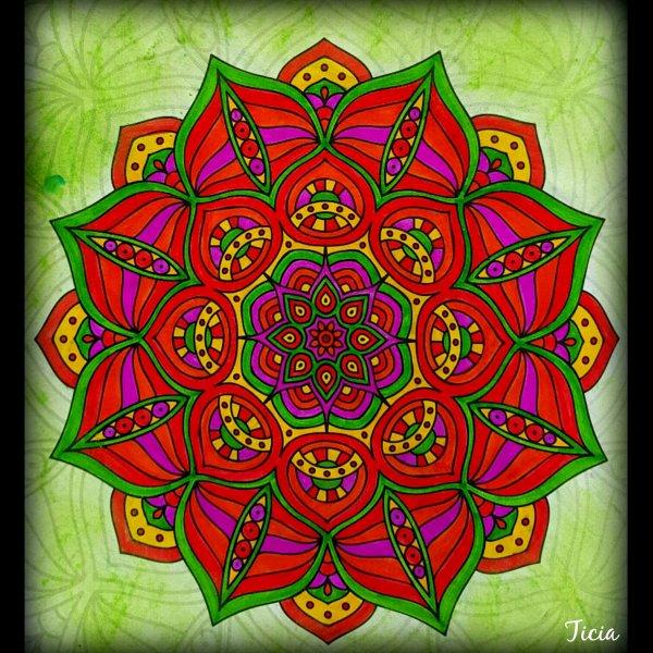 Art thérapie : color évasion. Coloriage Ticia