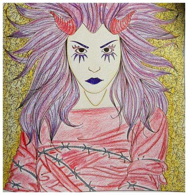 Art thérapie : anges et démons.