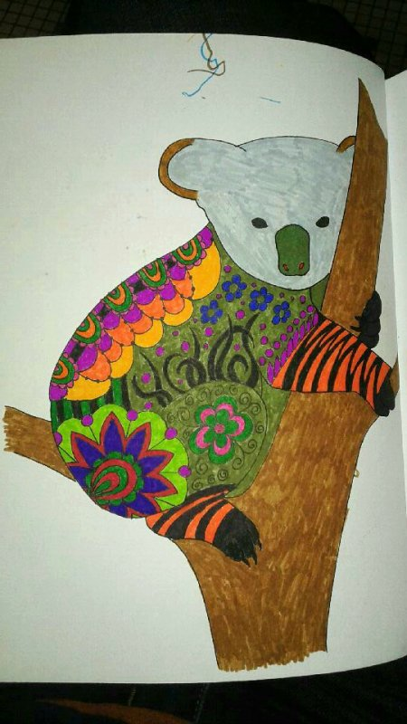 Art thérapie : animaux à colorier. Coloriage de Papa