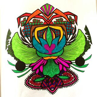 Art thérapie : : mandalas zentangle. Coloriage de Papa