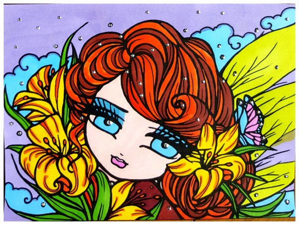 Art thérapie : Mairmaids,  Fairies. Coloriage Pinterest