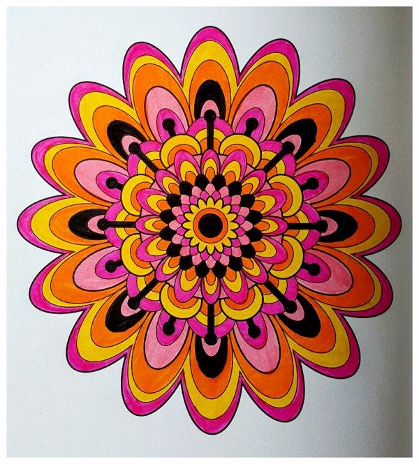 Art thérapie : mandalas. Coloriage Ticia