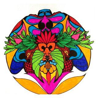 Art thérapie : mandalas zentangle. Coloriage Papa
