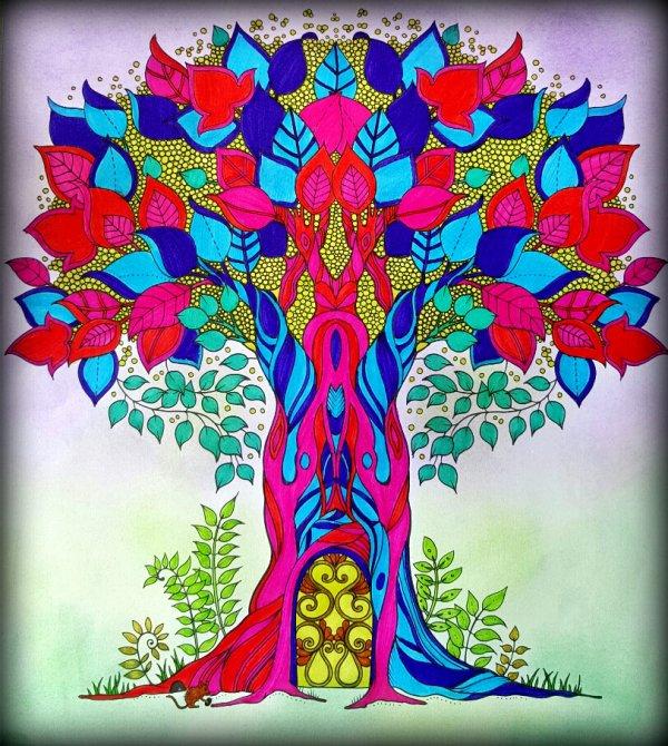 Art thérapie : forêt enchantée