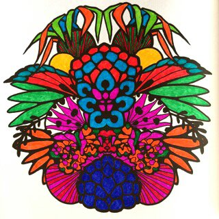 Art thérapie : mandalas zentangle. Coloriage Papa