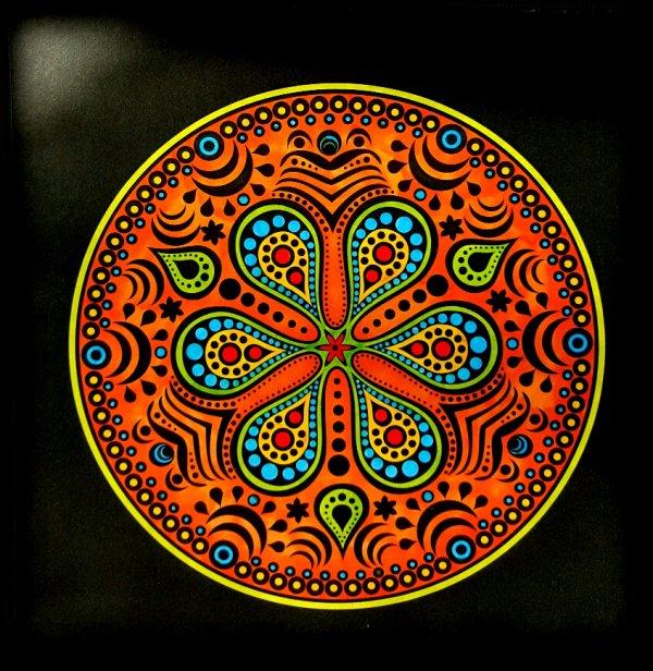 Art thérapie : Kaleïdo color. Coloriage de Ticia