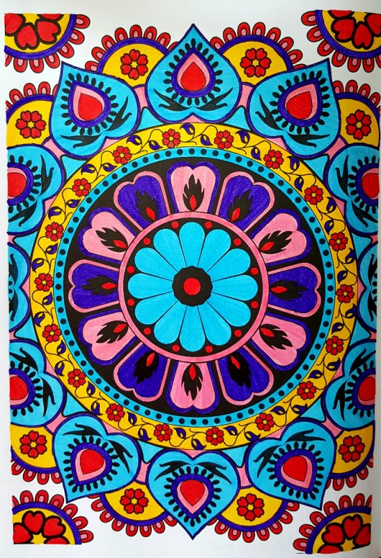 Art thérapie : 100 mandalas anti stress.