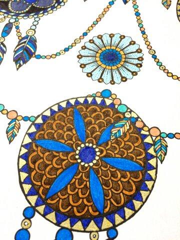 Art thérapie : rêves 100 coloriages pour s'endormir. Coloriage de Lauryne