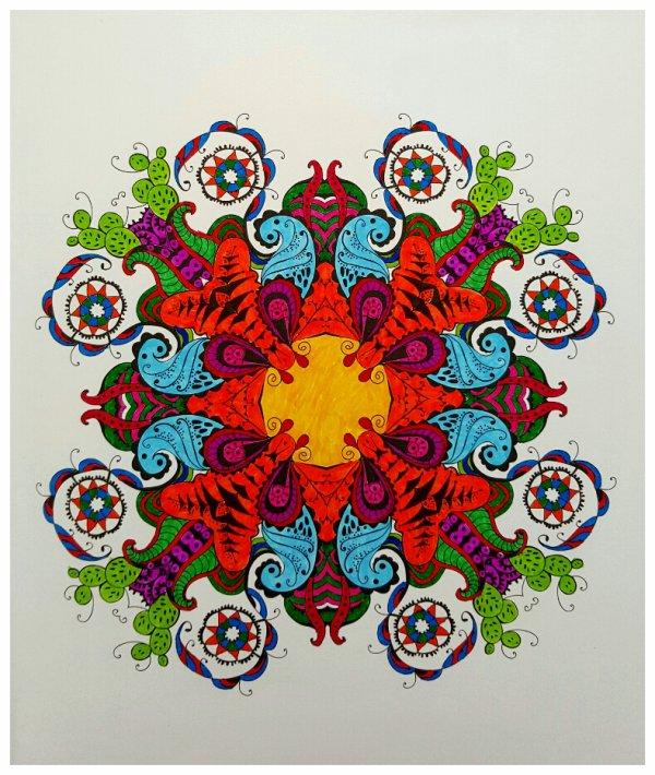Art thérapie : S'épanouir dans la vie, grâce au mandala.  Coloriage Papa