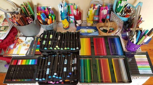 Art thérapie : matériel de coloriage