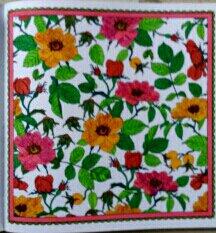 Art thérapie : le  jardin en fête.  Coloriage Nini