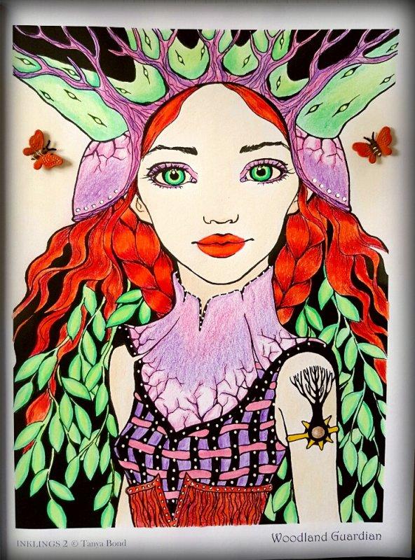Art thérapie : inklings 2 by Tanya Bond. Woodland guardian