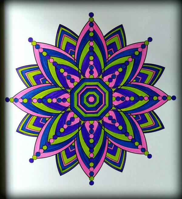 Art thérapie : s'épanouir dans la vie, grâce au mandala.  Coloriage Ticia