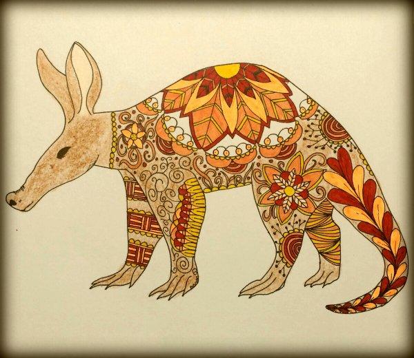 Art thérapie : animaux à colorier. Coloriage de Lauryne