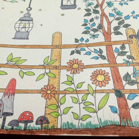 Art thérapie : jardin secret. Coloriage de Lauryne