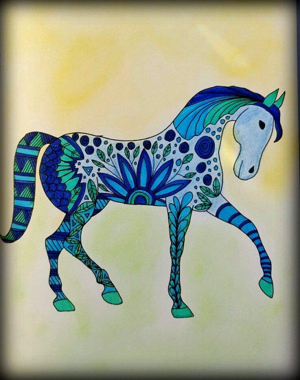 Art thérapie : animaux à colorier. Coloriage Ticia
