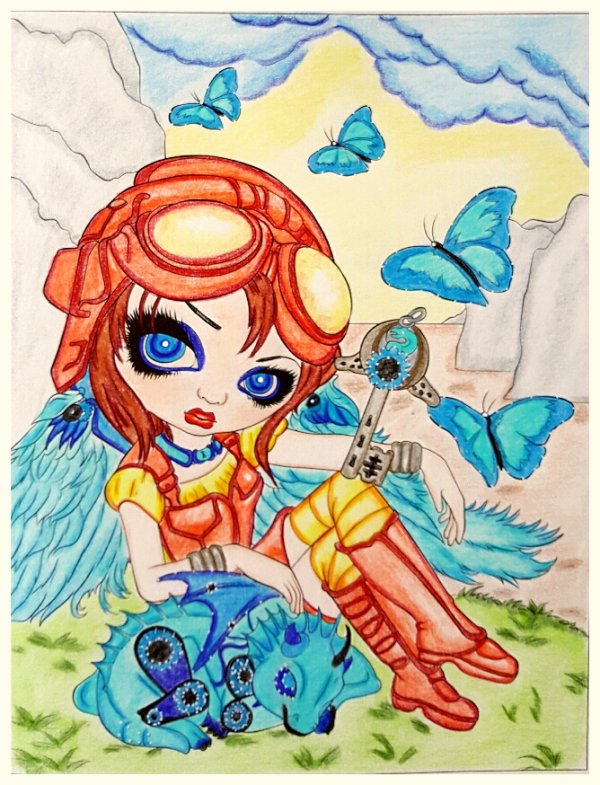 A fantasy art adventure de Jasmine Becket-Griffith. Clockwork dragonling
