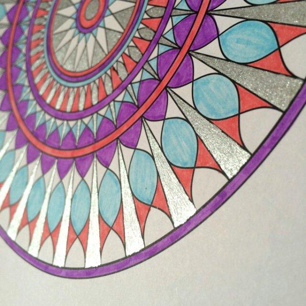 Carnet de Mandalas. Coloriage  Lauryne