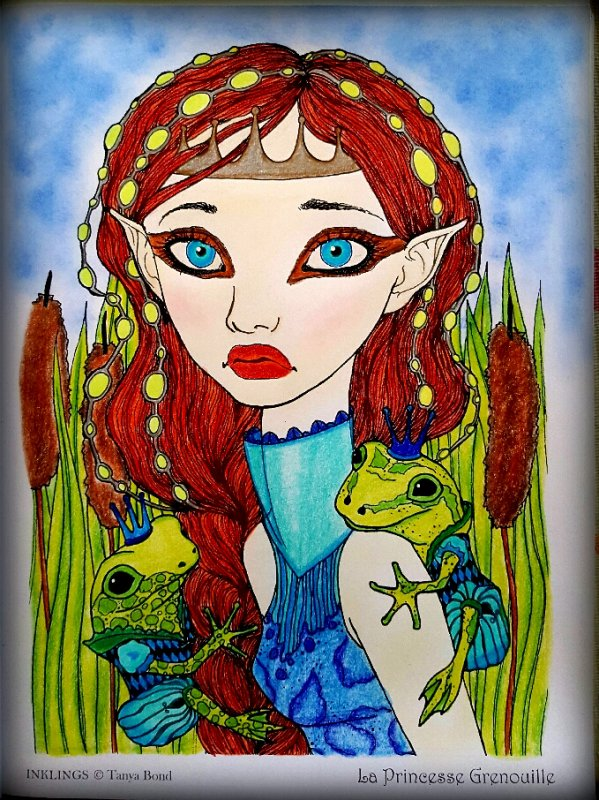 Art thérapie : inklings  by Tanya Bond. La princesse grenouille