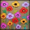 Fleurs exquises.  Coloriage Ticia