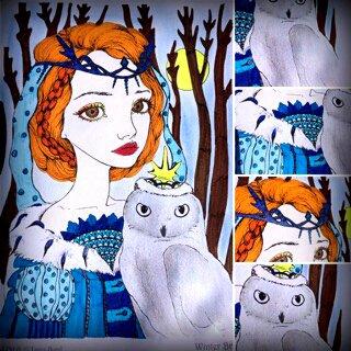 Inklings by Tanya Bond. Coloriage de Lauryne