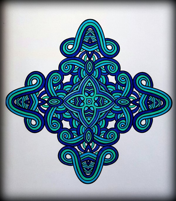 Art thérapie : 25 mandalas à colorier. Coloriage Ticia