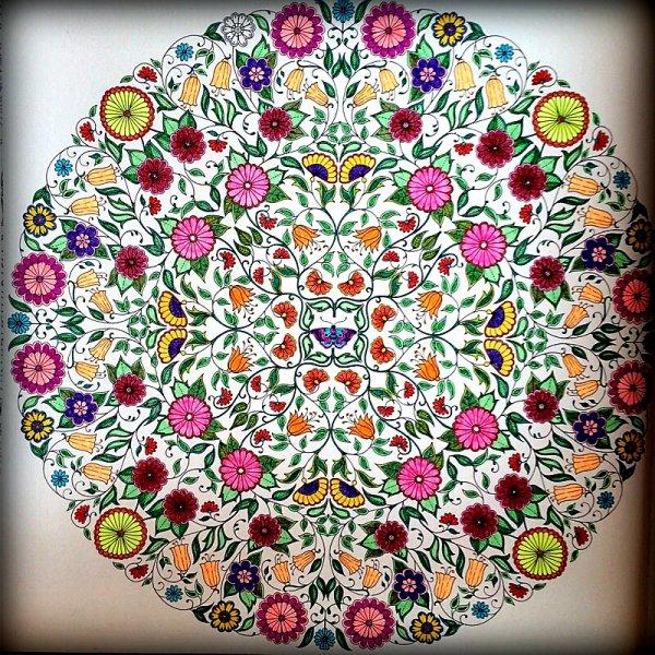 Jardin secret. Coloriage de Lauryne