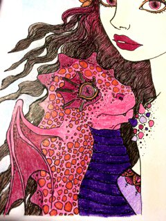 Inklings by Tanya Bond. Mia and Onyx. Coloriage de Lauryne