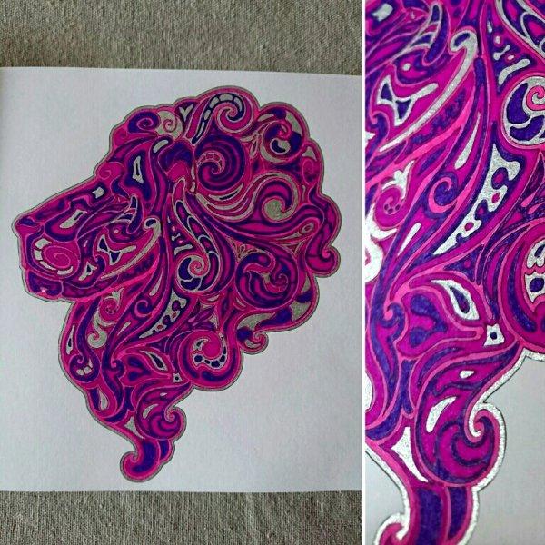 Félins.  Coloriage de Lauryne