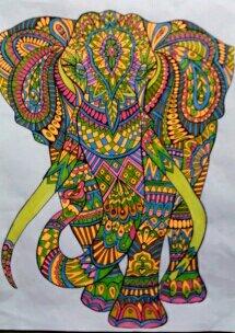 Animaux à colorier.  Coloriage de Nini