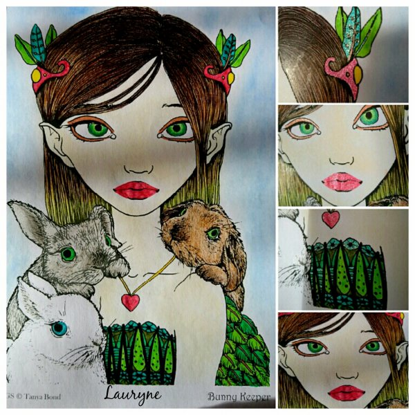 Inklings by Tanya Bond. Bunny Keeper. Coloriage de Lauryne