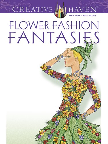 Flower fashion fantasies.  Coloriage de Nini