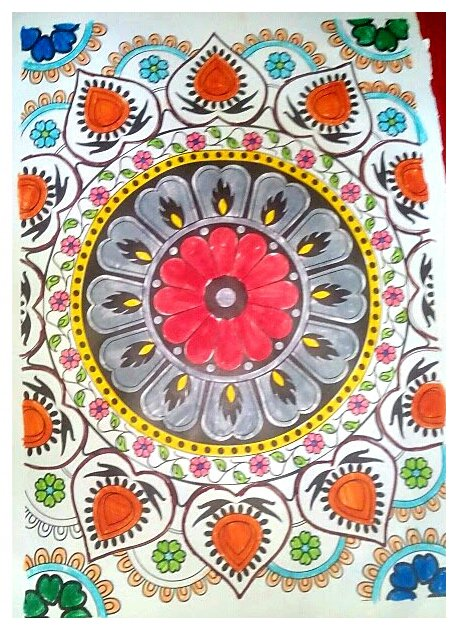 100 mandalas anti stress. Coloriage de Mila