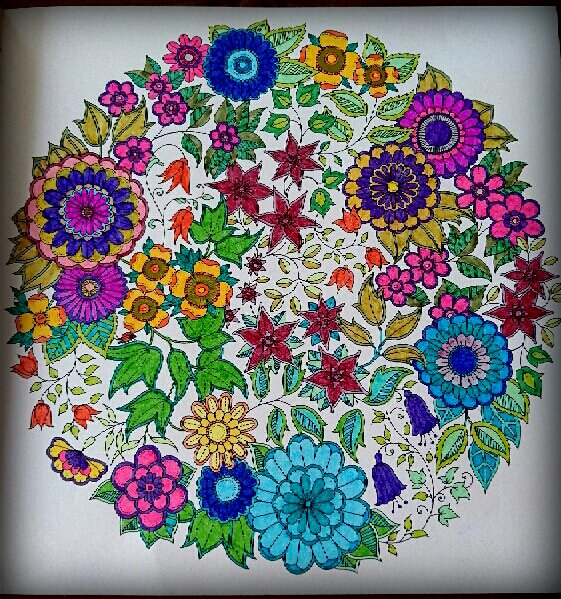 Jardin secret. Coloriage de Lauryne